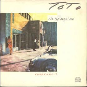 Toto – Fahrenheit (1987, light blue labels with white logo, Vinyl)