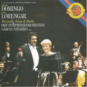 Placido Domingo , Pilar Lorengar , ORF Symphonieorchester Dir. Garcia Navarro - Zarzuela Arias & Duets (1985, CD)