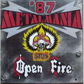 Open Fire / Stos - Metalmania 87 (1987, Vinyl)